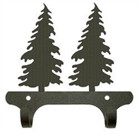 Rustic Wall Mounted Narrow Hook- Tree Design
