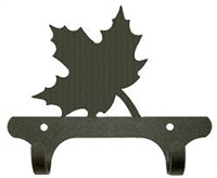 Rustic Wall Mounted Narrow Hook- Maple Leaf Design
