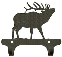 Rustic Wall Mounted Narrow Hook- Elk Design