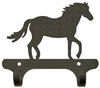 Rustic Wall Mounted Narrow Hook- Horse Design