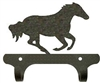 Rustic Wall Mounted Narrow Hook- Galloping Horse Design