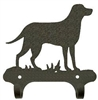 Rustic Wall Mounted Narrow Hook- Lab Retriever Design