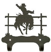 Rustic Wall Mounted Narrow Hook- Bronco Design