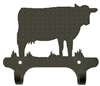 Rustic Wall Mounted Narrow Hook- Cow Design