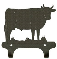 Rustic Wall Mounted Narrow Hook- Bull Design