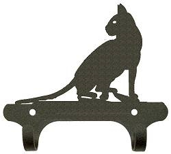 Rustic Wall Mounted Narrow Hook- Cat Design