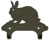 Rustic Wall Mounted Narrow Hook- Rabbit Design