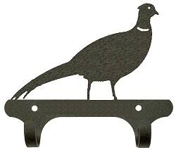 Rustic Wall Mounted Narrow Hook- Pheasant Design