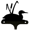 Decorative Single Wall Hook- Loon with Cattails Design