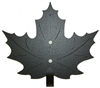 Decorative Single Wall Hook- Maple Leaf Design