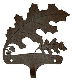 Decorative Single Wall Hook- Oak Leaf Design
