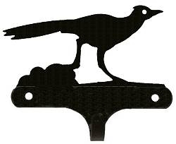 Decorative Single Wall Hook- Roadrunner Design
