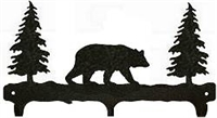 Rustic Wildlife Triple Hook- Bear Design