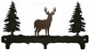 Rustic Wildlife Triple Hook- Deer Design
