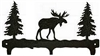 Rustic Wildlife Triple Hook- Moose Design