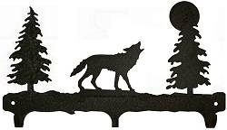 Rustic Wildlife Triple Hook- Wolf Design