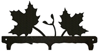 Rustic Wildlife Triple Hook- Maple Leaf Design