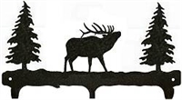 Rustic Wildlife Triple Hook- Elk Design