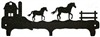 Rustic Wildlife Triple Hook- Horse and Barn Design