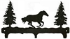 Rustic Wildlife Triple Hook- Galloping Horse Design