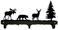 Rustic Wildlife Triple Hook- Deer, Bear, Moose Design