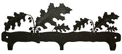 Rustic Wildlife Triple Hook- Oak Leaf Design