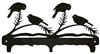 Rustic Wildlife Triple Hook- Chickadee Design