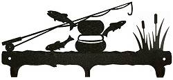 Rustic Wildlife Triple Hook- Fly-Rod Fish Design