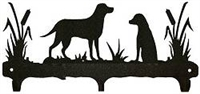 Rustic Wildlife Triple Hook- Lab Retriever Design