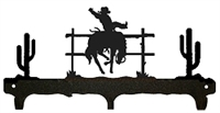 Rustic Wildlife Triple Hook- Bucking Bronco Design