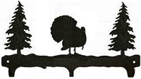 Rustic Wildlife Triple Hook- Turkey Design