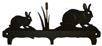 Rustic Wildlife Triple Hook- Rabbit Design