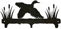 Rustic Wildlife Triple Hook- Flying Duck Design