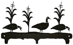 Rustic Wildlife Triple Hook- Geese Design