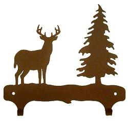 Double Wall Mounted Large Hooks- Deer Design