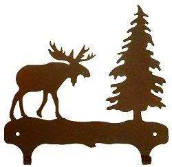 Double Wall Mounted Large Hooks- Moose Design