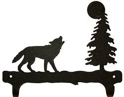 Double Wall Mounted Large Hooks- Wolf Design