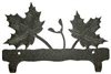 Double Wall Mounted Large Hooks- Maple Leaf Design