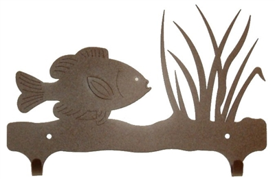 Double Wall Mounted Large Hooks- Pan Fish Design