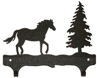 Double Wall Mounted Large Hooks- Horse Design