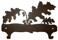 Double Wall Mounted Large Hooks- Oak Leaf Design