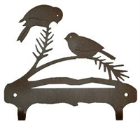 Double Wall Mounted Large Hooks- Chickadee Design