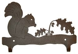 Double Wall Mounted Large Hooks- Squirrel Design