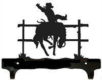 Double Wall Mounted Large Hooks- Bucking Bronco Design