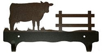 Double Wall Mounted Large Hooks- Cow Design
