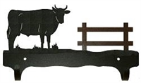 Double Wall Mounted Large Hooks- Bull Design
