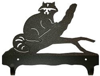 Double Wall Mounted Large Hooks- Raccoon Design