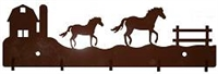 Key/Accessory Hooks- Horse and Barn Design