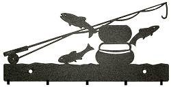 Key/Accessory Holder- Fly-Rod Fish Design