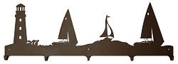 Wildlife Coat Hook- Lighthouse and Sailboat Design